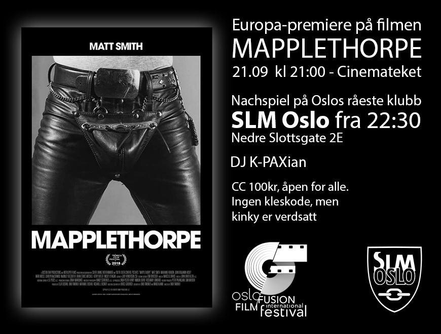 Premiere Mapplethorpe og etterfest på SLM!